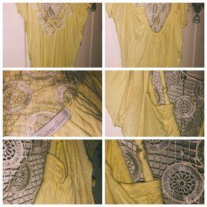 Lace light yellow shirt